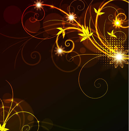 glowing floral background,eps10 format Vector