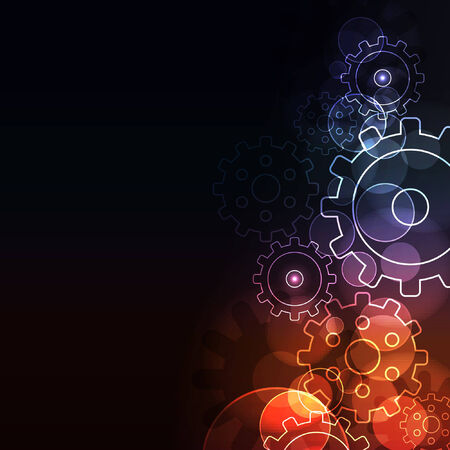 Stylized abstract background with  glowing elements  Illustration