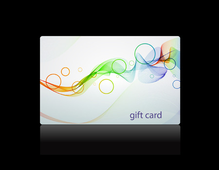 Gift card, vector template Illustration