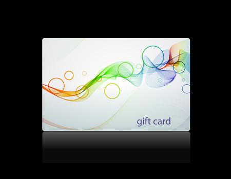 Giftcard, vector sjabloon Stock Illustratie