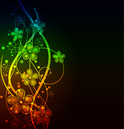 twirls: glowing floral background