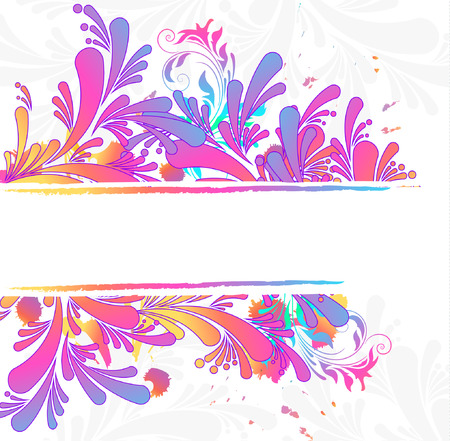swill: Colorful floral background, vector illustration