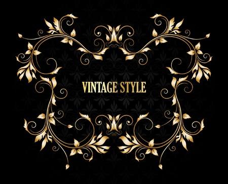 Vintage stylized floral frame Stock Vector - 9640394