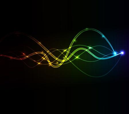glowing wave Stock Vector - 9720923