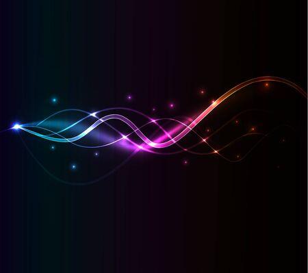glowing waves Stock Vector - 9720928