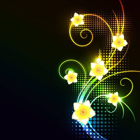 glowing floral background Stock Vector - 9719606