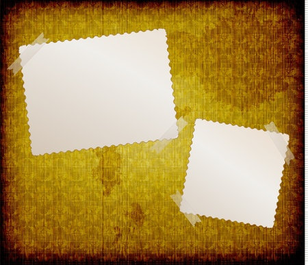 blank frames for photo on the grunge fabric background