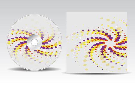 CD cover design  Vector