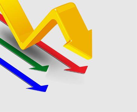 arrows vector: 3d arrows, vector illustration