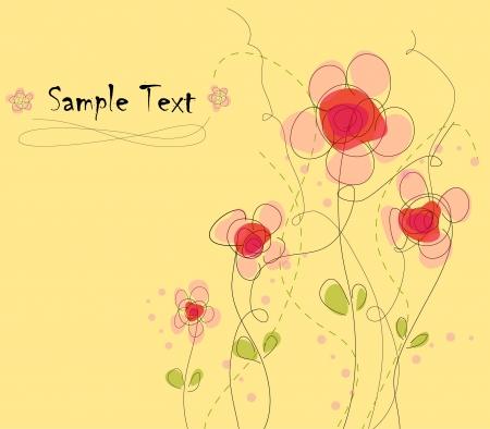 Floral card, vector illustration  Vector