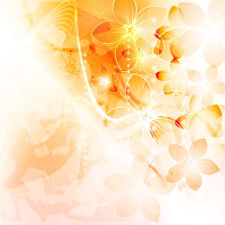 banner floral: Colorful floral background