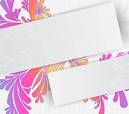 abstracte achtergrond met florale elementen