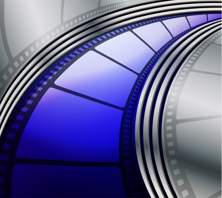 Film strip abstract background  Illustration