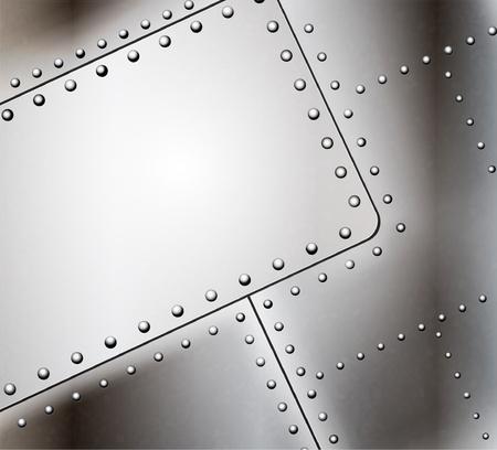 Vector geklonken metalen achtergrond Stock Illustratie