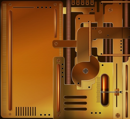 Vector mechanical background, steampunk style  Vector