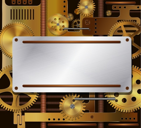 Vector mechanische achtergrond, steampunk stijl