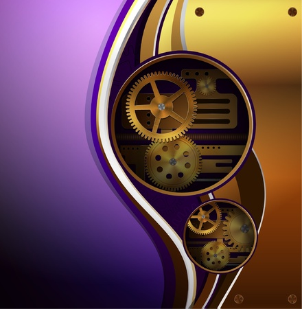 Vector mechanical background, steampunk style  Illustration