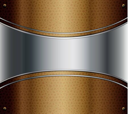 Abstract background metal and leather  Vector