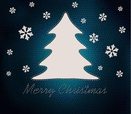 Christmas background, vector illustration Stock Vector - 11386759