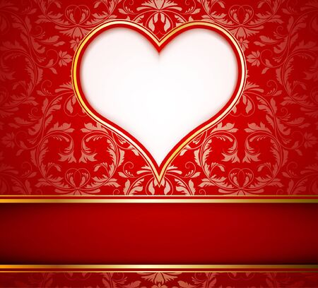 Greeting card with heart, vector illustration Stock Vector - 11386750