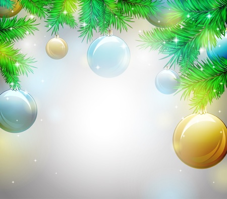 Christmas background, vector illustration Stock Vector - 11386733