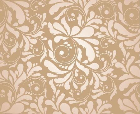 doilies: Patr�n floral sin fisuras Vectores