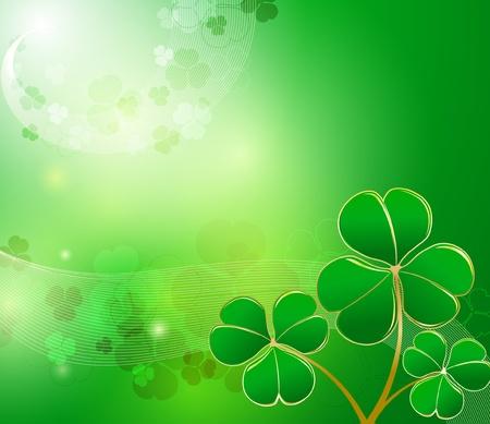 clover backdrop: St. Patrick
