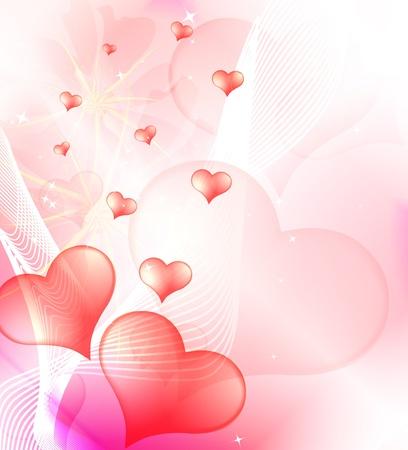Valentines Day background, vector Vector