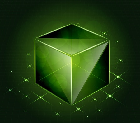 Vector glass cube Stock Vector - 12356534