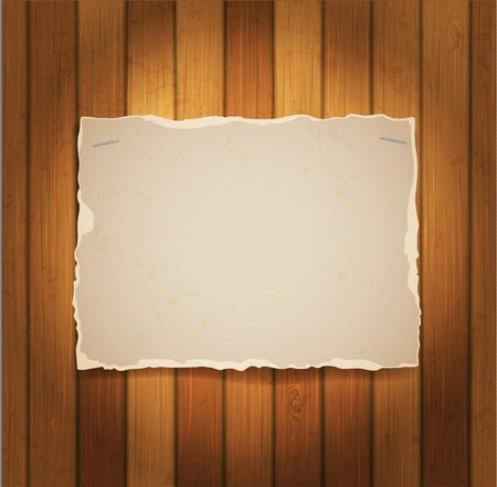 sheet of cardboard on a wood boards Stock Vector - 12356551