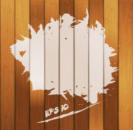 white paint spot on wood background Stock Vector - 12356548