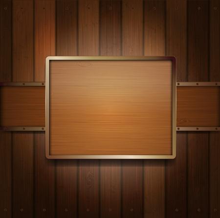 polished wood: Bandiera in legno Vettoriali