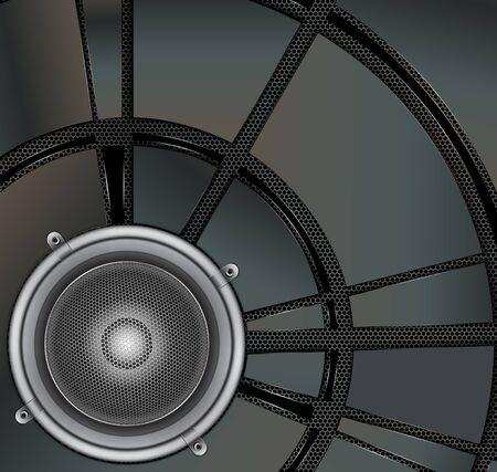 loud speaker: Loud Speaker on a metallic background