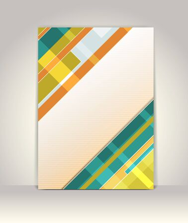 Business brochure template, abstract colorful design Stock Vector - 13448126