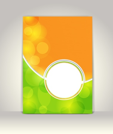 Business brochure template, abstract colorful design  Vector