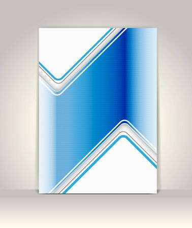 Business brochure template, blue metallic Vector