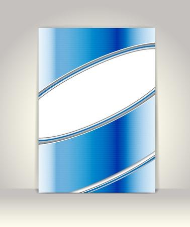 Business brochure template, blue metallic Vector