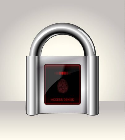 closed sign: Closed padlock with touch Screen,data security concept