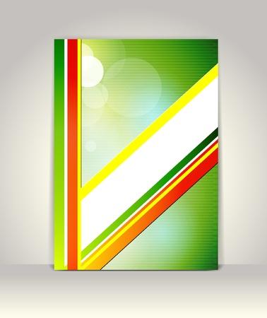 presentation folder: Business brochure template, abstract colorful design Illustration