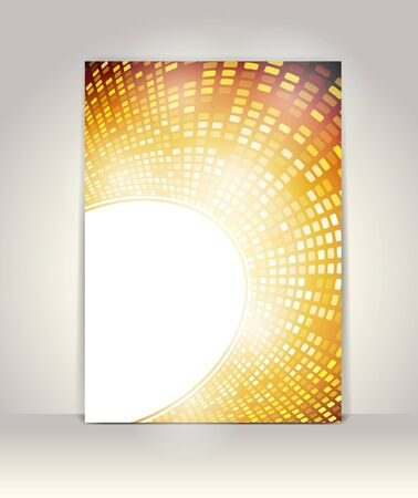Business brochure design template, Party Background with glowing lights Stock Vector - 13890898