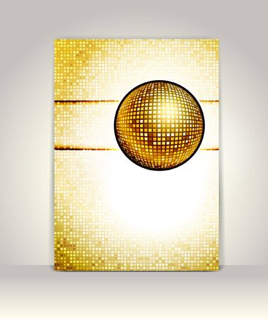 glowing lights: Business brochure design template, Party Background with glowing lights