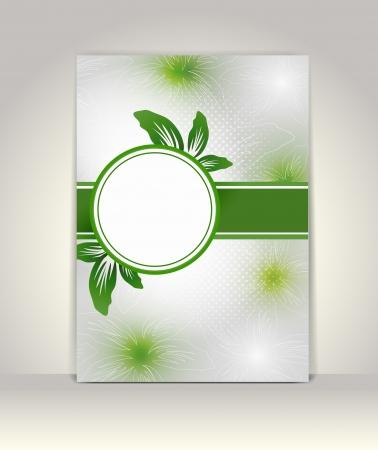 Business brochure template, flower colorful design