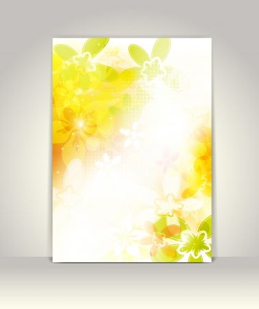 Business brochure template, flower colorful design Vector