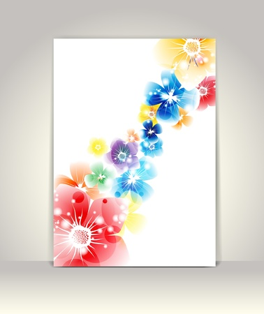 Business brochure template, flower colorful design Stock Vector - 13890863