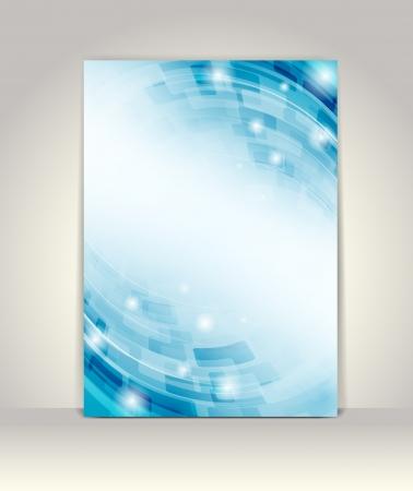 チラシ: ビジネス パンフレットのテンプレートは、抽象的な技術デザイン  イラスト・ベクター素材