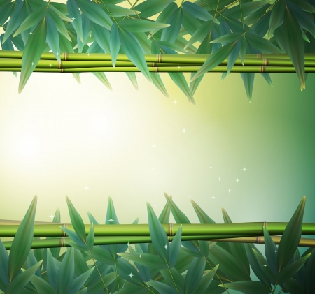 Glowing bamboo background  Illustration