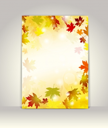 poster presentation: Business brochure design template, Autumn background