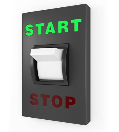 start position: Toggle switch in Start position