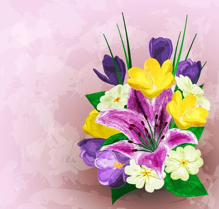 Painted flower background, vector illustration Vector