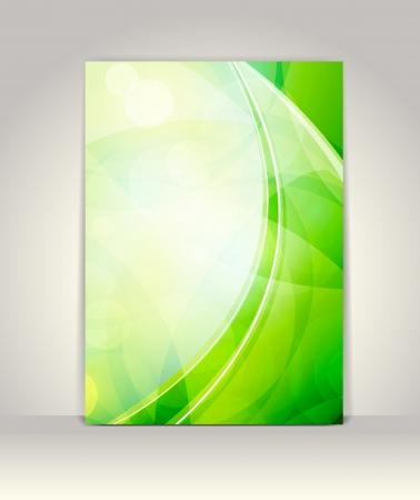 presentation folder: Flyer or brochure template, abstract technology design